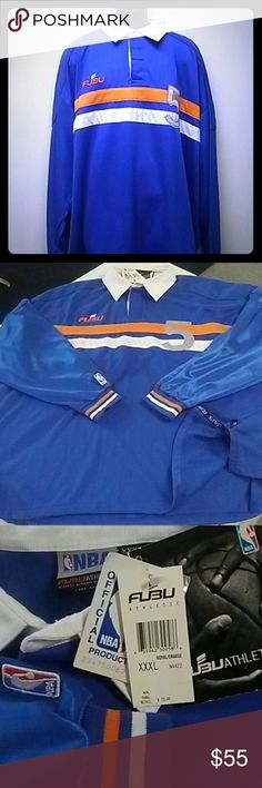 Beautifully made NBA warm up Athletic sports shirt Well made 1pc royal blue NBA Athletic warm up shirt w/embroiling. 75%polyester 25%cotton v neck 2 button FUBU 5 collectible FUBU Athletic  Tops Sweatshirts & Hoodies