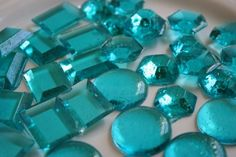 turquoise edible gems made from sugar, corn syrup, water & food coloring