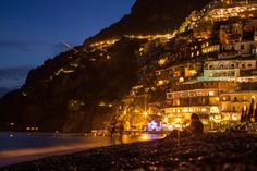 on the beach at night. Beach At Night, Positano, Spain, Europe, Italy, France, Italia, Sevilla Spain, Spanish