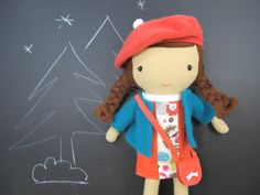 Studio Doll  Zoe. Handmade Doll Eco Friendly Plush by ViolaStudio, $189.00