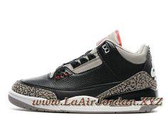 best service 3a9d4 825cd Air Jordan 3 Retro  Nike Air  Black Cement Chaussures Air Jordan Prix pour  Homme Noir Gris