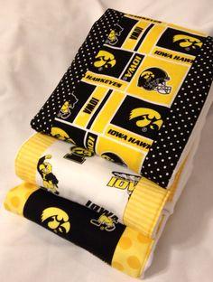 Iowa Hawkeyes Burp Rags. Oh boy! Justin will flip!