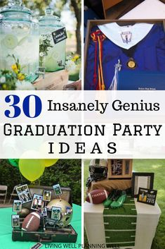 30 Insanely Genius Graduation Party Ideas Ready to plan your graduation party? I have rounded up 30 insanely genius graduation party ideas that will wow your guests. These graduation party ideas are sure to make your graduation party a hit. Outdoor Graduation Parties, Graduation Party Centerpieces, Grad Party Decorations, Graduation Party Planning, College Graduation Parties, Graduation Party Decor, Graduation Ideas, Graduation Gifts, Grad Parties