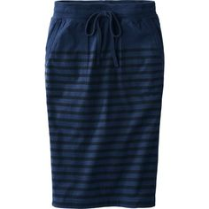 UNIQLO Women Idlf Cotton Striped Skirt ($9.90) ❤ liked on Polyvore