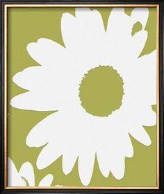 Jan Weiss Azure Petals I Contemporary Flower Floral Life Print Poster 18x18