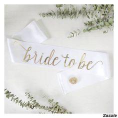 Elegant Script Bling Bride To Be White Sash   #ad #bridetobe #bride #wedding