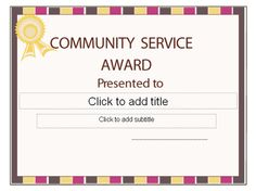 certificate of service template free