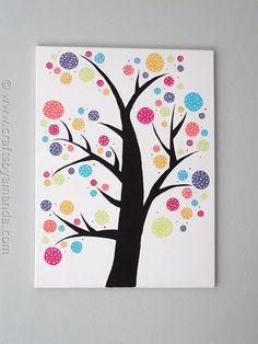 Polka Dot Circle Tree by @amandaformaro at CraftsbyAmanda.com