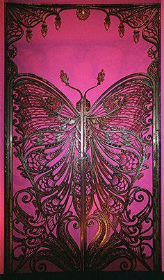 Art Nouveau Butterfly Door   Flickr - Photo Sharing!