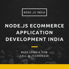 Node.js is the world's best runtime language for today's data-intensive, real-time applications. At Node.js India we provide best conceivable services to our clients with inventive approach and evolving technology. We are offring Node.js eCommerce application development India.  Visit site for more information: http://www.nodejsindia.com/services/ecommerce-applications-development