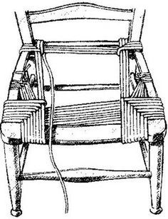 Rush Seating for primitive chair