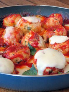 Pineapple Stuffed Chicken Meatballs   YummyAddiction.com