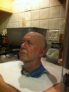 3D print of a mans head.http://atechpoint.com/ #tech #atechpoint