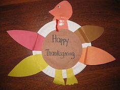 Can use cut and paste template to make Turkeys, for older students can personalize message (I am thankful for....)