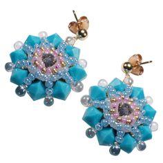 Sommerromantik: Süße Ohrringe aus Rocaille in Türkis von Perlotte Schmuck