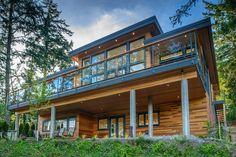 Christopher Developments - Hart Road by KB Design Rustic Home Design, Cabin Design, Cottage Design, Mountain Home Exterior, Dream House Exterior, Modern Floor Plans, Contemporary House Plans, Ste Marguerite, Alaska House