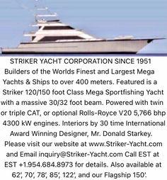 Big Yachts, Luxury Yachts, Fishing Yachts, Fishing Boats, Yacht World, Yacht Builders, Private Yacht, Yacht Design, Sport Fishing