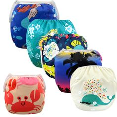 Summer Swim Diapers for Kids Adjustable and Reusable //Price: $7.19 & FREE Shipping //     #kidsledshoes