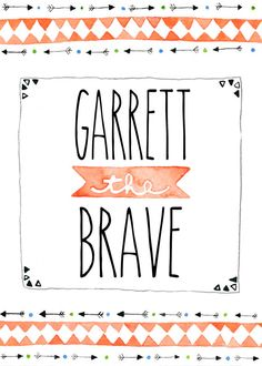 Brave Little One - Personalized Nursery Art - Custom Tribal Nursery Print - Personalized Tribal Watercolor Painting on Etsy, $15.00