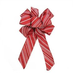 """Amazon.com: 8"""" x 16"""" Red and White Candy Cane Glitter Stripe 6 Loop... ($6.99) ❤ liked on Polyvore featuring home, home decor, holiday decorations, christmas home decor, christmas holiday decor and christmas holiday decorations"""