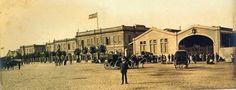 Hotel de los Inmigrantes. Desde 1911 en Dársena Norte. Aún se conserva el edificio y esta destinado a oficinas de migración.