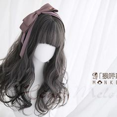 Devil's Disguise-Pewter Pine - New Site Manga Hair, Anime Hair, Cosplay Hair, Cosplay Wigs, Kawaii Hairstyles, Wig Hairstyles, Pastel Wig, Kawaii Wigs, Lolita Hair
