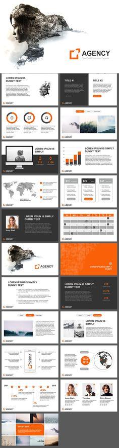 Agency - PowerPoint Template #FinanceTemplate #FinanceIcons