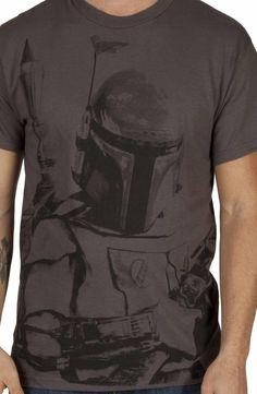 Charcoal Boba Fett Shirt: 80s Movies Star Wars, Boba Fett T-shirt