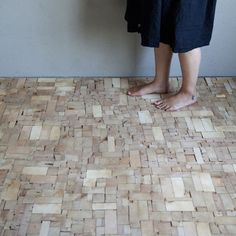 This Wood Block Floor is Composed of Severed Tips of Old Timber Beams