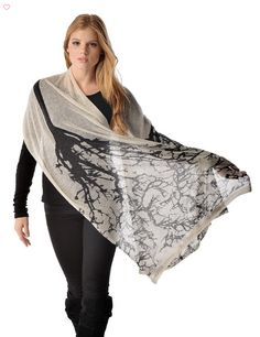 "Pure #Cashmere Printed Shawl Offered in 4 colors these 100% pure cashmere shawls measure 26"" x 76"". These #shawls are  knitted in a fine mesh like weave and would beautifully #accessorize any outfit. #shawls #fashion #womenfashion #womenstyle #boutique  Buy Now From Here-->> http://goo.gl/30UCvQ"