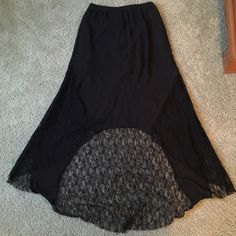 flash saleHigh low lace skirt High low lace black skirt with a miniskirt insert Hot & delicious Skirts High Low