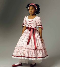 Civil War Dress for Little Girls New Butterick by YourSewingBasket