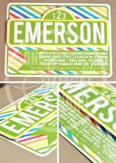 Three Dimensional - Pop Up Sesame Street Inspired DIY Printable Birthday Party Invitation. $16.00, via Etsy.