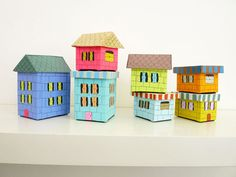 Tiny building boxes.