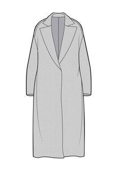 Duster coat Fashion Sketch Template, Fashion Design Template, Fashion Templates, Fashion Design Sketches, Flat Drawings, Flat Sketches, Croquis Fashion, Fashion Vector, Fashion Artwork