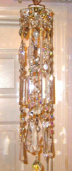 Crystal Prism Wind Chime Indoor or Outdoor Clearly Elegant