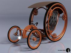 Roman Dolzhenko - Concept for a Steampunk Recumbent Tricycle
