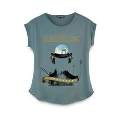 T-shirt Oficial Expensive Soul brancaModelo femininoJersey de algodão em 160gCorcinza xanaduEstampa a 4 cores do album sonhador.