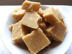 Chunks of Butter Tablet (also known as Scottish Tablet). A super-sweet, not-quite-fudge, not-quite-toffee confection, it melts in your mouth like heaven. Been looking for a good recipe for a while!