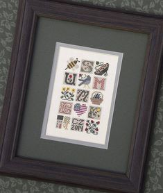 DRAWN THREAD Summer Jumble counted cross stitch patterns at thecottageneedle.com bumble bee 4th of July by thecottageneedle