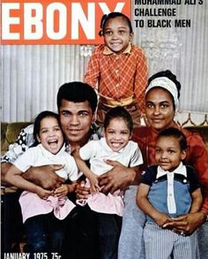 Pictures Muhammad Ali His Family My Black Is Beautiful, Black Love, Black Men, Jet Magazine, Black Magazine, Muhammad Ali, Ebony Magazine Cover, Magazine Covers, Sports Illustrated
