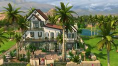 Isola Rossa house by chipie-cyrano at L'UniverSims via Sims 4 Updates Sims 4 Loft, Sims 4 Cheats, Sims Love, The Sims 4 Lots, Sims Building, Building Games, Sims 4 House Plans, Sims 4 House Design, Casas The Sims 4