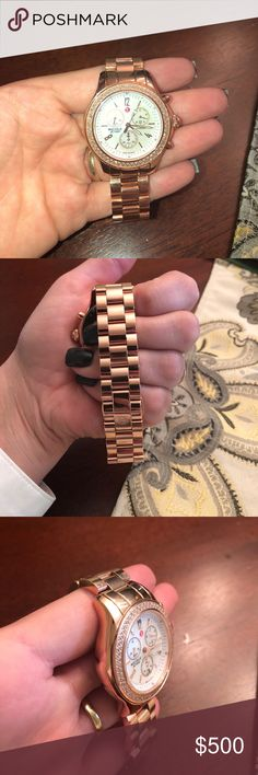 Michelle Rose Gold Watch Never been worn brand New!!! Great condition M Michelle Accessories Watches