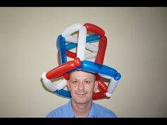 Uncle Sam hat out of balloons. July 4th balloon hat. How to make national hat out of balloons.