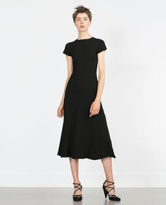 ZARA - SHORT SLEEVE DRESS - Perfect LBD for the office and happy hour.