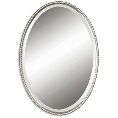 Uttermost Sherise Brushed Nickel Oval Mirror 01102 B
