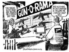 America, where any nut can buy all the guns he wants