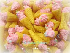Dolls House Miniature Strawberry Ice Cream Cones For Sale At Chic Boutique Miniatures @ East Carlton Park