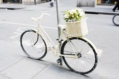 bicycle, photography, pretty, vintage, white