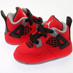 67d6bb71ce5f10 JORDAN RETRO 4 NEWBORNS SNEAKERS ( 45) ❤ liked on Polyvore featuring shoes